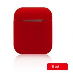Мягкий силиконовый противоударный чехол - Airpods Apple (Red)