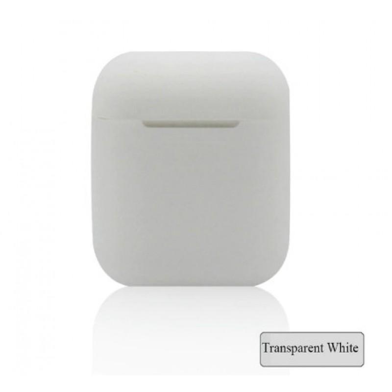 Мягкий силиконовый противоударный чехол - Airpods Apple (Transparent)