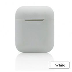 Мягкий силиконовый противоударный чехол - Airpods Apple (White)