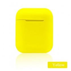 Мягкий силиконовый противоударный чехол - Airpods Apple (Yellow)