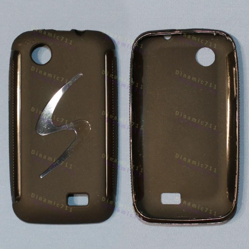 Оригинальный силиконовый чехол для lenovo A369 черный