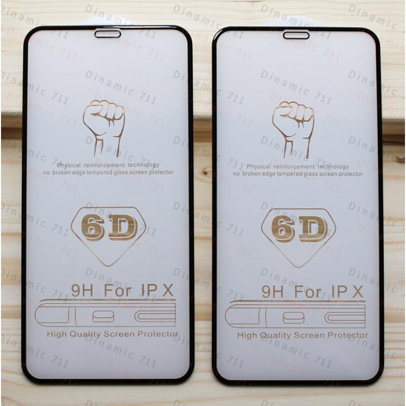 Оригинальное защитное стекло для смартфона Apple Iphone X (6D)