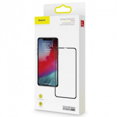 Защитное стекло Baseus Apple iPhone X/XS/11 Pro Black (3D) -  2 шт