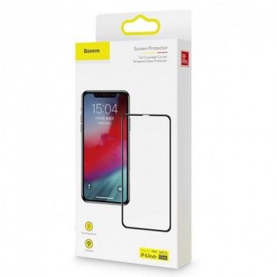 Защитное стекло Baseus Apple iPhone XR/11 Black (3D) -  2 шт