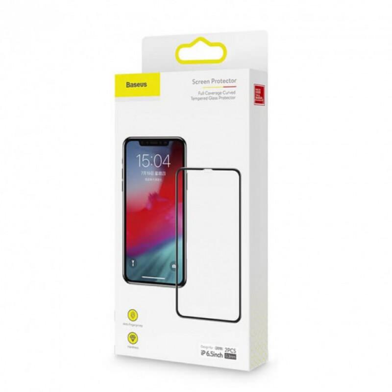 Защитное стекло Baseus Apple iPhone XS Max/11 Pro Max Black (3D) -  2 шт