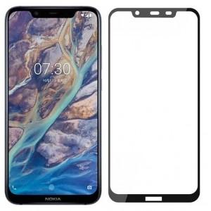 Оригинальное защитное стекло для смартфона Nokia 8.1 2019 (9D)