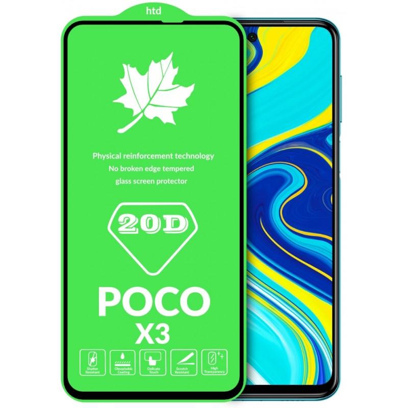 Оригинальное защитное стекло для смартфона Xiaomi Poco X3 NFC (20D)