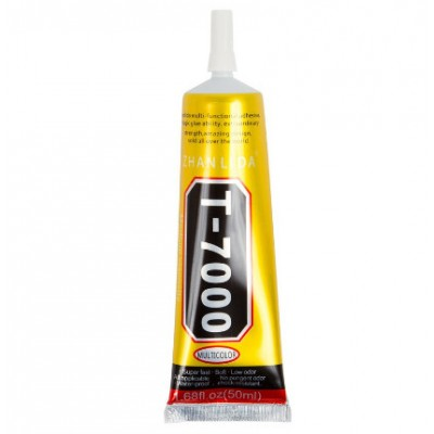 Клей герметик T7000 в тюбике черный 50 мл