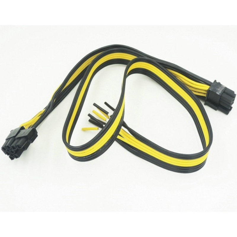 Кабель PCI Express 8pin (6+2). ПК Графика, видеокарта. Силовой Кабель. Шнур 18AWG