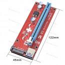 Райзер для видеокарты, майнинг. PCI Express 16X USB 3.0 для 15Pin Sata - Molex 60 см (ver 007S)