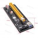 Райзер для видеокарты, майнинг. PCI Express 16X USB 3.0 для 4Pin IDE - Molex 60 см (ver 006)