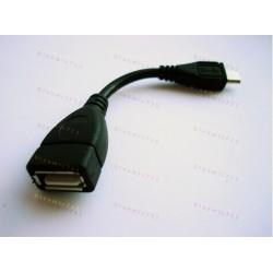 OTG кабель - микро юсб.  (otg cable - micro usb)