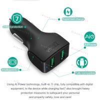 Автомобильное зарядное устройство AUKEY с 2 портами 24W, 4.8А  для всех типов устройств.