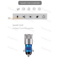 Автомобильное зарядное устройство Suptec 2 usb порта, 12W, 2.4А  Быстрая зарядка