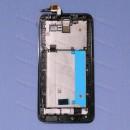 Оригинальный ЛСД экран и Тачскрин сенсор Asus zenfone 2 ZE551ML Black с рамкой модуль (Уценка) #2