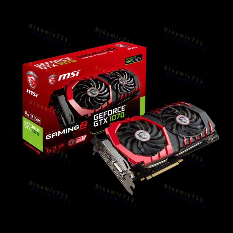 Видеокарта MSI GeForce® GTX 1070 GAMING Z 8G (б.у на гарантии,) Уценка!
